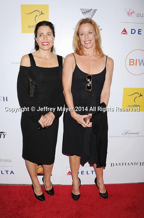 SANTA MONICA, CA- OCTOBER 26: Carol Coote (L) and Tara Olson attend the 3rd Annual Australians in Film Awards Benefit Gala at the Fairmont Miramar Hotel on October 26, 2014 in Santa Monica, California.