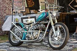 Custom Triumph at Born Free Motorcycle Show (BF11) at Oak Canyon Ranch, Silverado  CA, USA. Saturday, June 22, 2019. Photography ©2019 Michael Lichter.