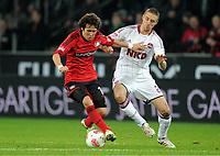 Fotball , 1. desember 2012, <br />  Bundesliga, Bayer 04 Leverkusen - 1. FC Nürnberg<br /> v.l. Hajime Hosogai, Timmy Simons (Nuernberg)<br /> <br /> Norway only