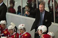 Ishockey<br /> 17. April 2015<br /> Landskamp<br /> Bergenshallen<br /> Norge - Latvia 2 - 1<br /> Norges trener Roy Johansen<br /> Foto: Astrid M. Nordhaug