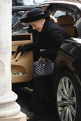 Princess Michael of Kent arriving at the Grosvenor Chapel in London's Mayfair for a memorial service to commemorate the life of Raine Spencer, the stepmother of Diana, Princess of Wales, who died last month aged 87 after a short illness.