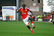 Crewe Alexandra's Anthony Grant in action. Skybet football league one match, Crewe Alexandra v Port Vale at the Alexandra Stadium in Crewe on Saturday 13th Sept 2014.<br /> pic by Chris Stading, Andrew Orchard sports photography.