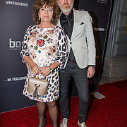 NLD/Amsterdam/20161010 -  Premiere De Verleiders: Slikken en Stikken, Henriette Tol en partner Rob Snoek