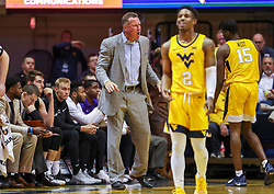 Mar 20, 2019; Morgantown, WV, USA; Grand Canyon Antelopes head coach Dan Majerle yells from the bench during the first half against the West Virginia Mountaineers at WVU Coliseum. Mandatory Credit: Ben Queen