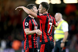 Bournemouth's Harry Arter (left) and Marc Pugh celebrate after the final whistle