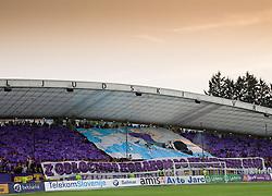 Supporters of Maribor during football match between NK Maribor and APOEL FC, (Cyprus) in Third qualifying round, Second leg of UEFA Champions League 2014, on August 6, 2013 in Stadium Ljudski vrt, Maribor, Slovenia. (Photo by Vid Ponikvar / Sportida.com)