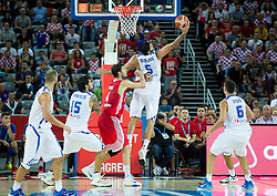 Yannis Bourousis of Greece during basketball match between Greece and Croatia at Day 2 in Group C of FIBA Europe Eurobasket 2015, on September 6, 2015, in Arena Zagreb, Croatia. Photo by Vid Ponikvar / Sportida