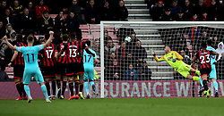 Bournemouth goalkeeper Artur Boruc is unable to stop Newcastle United's Salomon Rondon (not in picture) scoring his side's first goal of the game during the Premier League match at the Vitality Stadium, Bournemouth.