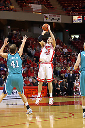 18 November 2007: Levi Dyer takes a 3 point shot. Illinois State Redbirds defeated the Seahawks of the University of North Carolina - Wilmington 89-73 on Doug Collins Court in Redbird Arena on the campus of Illinois State University in Normal Illinois.