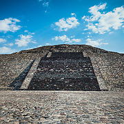 Aztec structure at Teotihuacan archeological site, Mexico