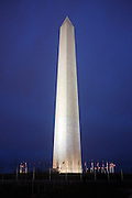 © Licensed to London News Pictures. 31/12/2012. Washington DC, USA . The Washington Monument seen at night. Photo credit : Stephen Simpson/LNP