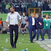 Bursaspor's coach Senol Gunes during the Turkish soccer super league match Bursaspor between Besiktas at the Ataturk Stadium in Bursa Turkey on Monday, 22 September 2014. Photo by TURKPIX