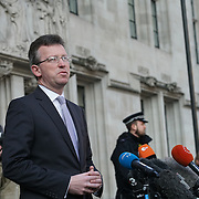 London,England,UK: 24th January 2017. Speaker after hearing Gina Miller wins supreme Court ruling case after Judges rule government cannot trigger Article 50 to start the formal process of leaving the European Union without a parliamentary vote, Westminster,London,UK. by See Li