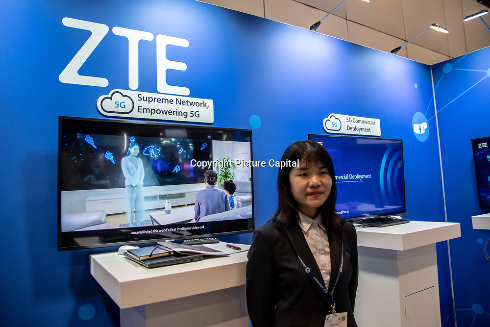 ZTE Agile 5G Slicing and 5G Mobile exhibition at 5G World Day Two at Excel London,on 12 June 2019, UK.