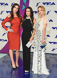 August 27, 2017 - Inglewood, California, U.S. - Jennifer Bartels, Kyle Richards and Mena Suvari arrives for the 2017 MTV Video Music Awards at The Forum. (Credit Image: © Lisa O'Connor via ZUMA Wire)