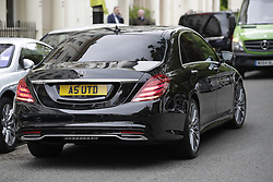 © Licensed to London News Pictures. 25/05/2016. London, UK. A chauffeur driven car with the number plate A5 UTD is seen outside Jose Mourinho's house. Mourinho is expected to be named as Manchester United manager in the next few days. Photo credit: Peter Macdiarmid/LNP