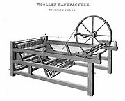 Spinning Jenny  - Invented by James Hargreaves (c1720-78) in 1764. Copperplate engraving 1820