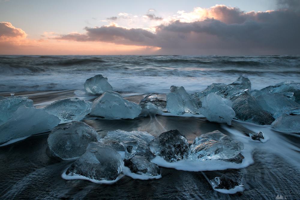 Icebergs at Jökulsárlón in south-east Iceland