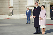 112818 Spanish Royals attends the Official Reception to Chinese President and wife