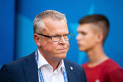 July 7, 2018 - Samara, Russia - 180707 Head coach Janne Andersson of Sweden prior to the FIFA World Cup quarter final match between Sweden and England on July 7, 2018 in Samara..Photo: Petter Arvidson / BILDBYRÃ…N / kod PA / 92083 (Credit Image: © Petter Arvidson/Bildbyran via ZUMA Press)