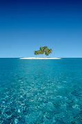 Image of a motu on the idyllic waters of Bora Bora, Tahiti, French Polynesia by Randy Wells