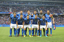 June 1, 2018 - Paris, Ile-de-France, France - Players of Italy National Team  before the friendly football match between France and Italy at Allianz Riviera stadium on June 01, 2018 in Nice, France..France won 3-1 over Italy. (Credit Image: © Massimiliano Ferraro/NurPhoto via ZUMA Press)