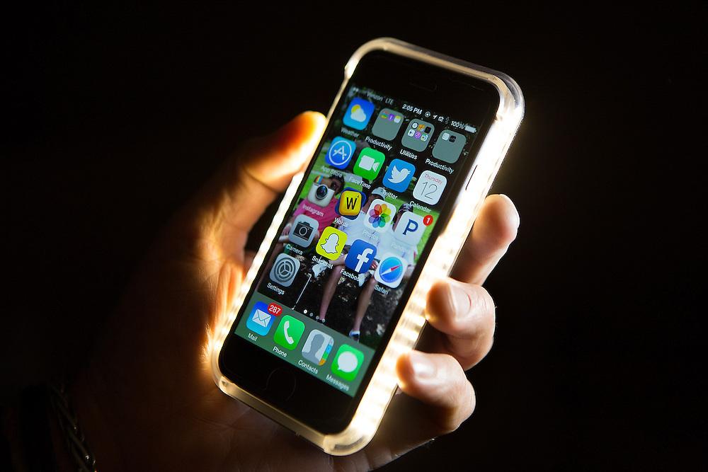 Closeup of a Lumee cell phone case. 3/12/15 John O'Boyle