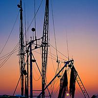 Boat at Sunrise - Apalachicola, FL