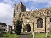 A4TR80 Clare church Suffolk England