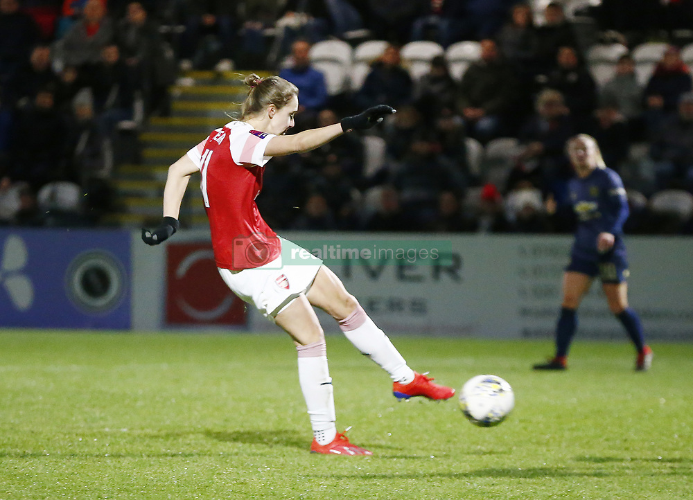 February 7, 2019 - London, England, United Kingdom - Vivianne Miedema of Arsenal  scores 2nd goal.during FA Continental Tyres Cup Semi-Final match between Arsenal and Manchester United Women FC at Boredom Wood on 7 February 2019 in Borehamwood, England, UK. (Credit Image: © Action Foto Sport/NurPhoto via ZUMA Press)