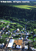 Aerial, Town, PA Susquehanna Valley, Forest and Farmland, Northumberland Co. Aerial Photograph Pennsylvania