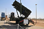 Israel, Tel Nof IAF Base, An Israeli Air force (IAF) exhibition Patriot anti aircraft missiles