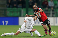 Gelson FERNANDES / Ferjani SASSI  - 07.03.2015 -  Rennes / Metz -  28eme journee de Ligue 1 <br />Photo : Vincent Michel / Icon Sport