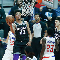 26 December 2017: Sacramento Kings guard Malachi Richardson (23) goes for the reverse during the LA Clippers 122-95 victory over the Sacramento Kings, at the Staples Center, Los Angeles, California, USA.