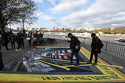 To mark one of the most controversial US election campaigns in modern history Sky News has commissioned a 3D street art scene of Times Square, New York.<br /> The commission, created by street artist Joe Hill (left), will be positioned at Observation Point on London's South Bank on Sunday 6th and Monday 7thNovember ahead of the US election on 8thNovember. Tourists and commuters will be able to enjoy the art and join in by standing on its edge looking down on a busy Times Square.<br /> Sky News' election night coverage, America Decides, will be broadcast from a specially created studio on Times Square from 10pm on Tuesday 8thNovember across television, mobile, radio and social media.