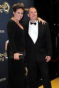 Gouden Loper van het 49ste Gouden Televizier-Ring Gala 2014 in Carre , Amsterdam<br /> <br /> Op de foto: <br /> <br /> <br /> <br />  Selma van Dijk en partner Tom Keijser