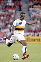 Fotball<br /> VM 2006<br /> Foto: Dppi/Digitalsport<br /> NORWAY ONLY<br /> <br /> FOOTBALL - WORLD CUP 2006 - STAGE 1 - GROUP D - ANGOLA v PORTUGAL - 11/06/2006 - FABRICIO AKWA (ANG)