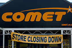 © Licensed to London News Pictures. 18/12/12. Coventry, UK. The Comet store closes in Coventry. Photo credit : Dave Warren/LNP