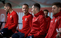CARDIFF, WALES - Sunday, October 14, 2018: Wales' Andy King during a training session at the Vale Resort ahead of the UEFA Nations League Group Stage League B Group 4 match between Republic of Ireland and Wales. (Pic by David Rawcliffe/Propaganda)