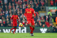 Joel Matip of Liverpool in action. Premier League match, Liverpool v Sunderland at the Anfield stadium in Liverpool, Merseyside on Saturday 26th November 2016.<br /> pic by Chris Stading, Andrew Orchard sports photography.