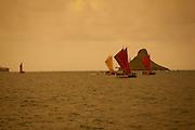 "Te Mana o Te Moana ""Spirit of the Sea"" 2011 voyage of 7 sailing canoes from the South Pacific. Celebration at Kualoa Park"