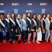 NLD/Hilversum/20180512 - Speciale voorvertoning Ocean's Eight, alle deelneemsters Miss Nederland 2018