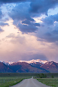 Madison Range at sunset, Montana.