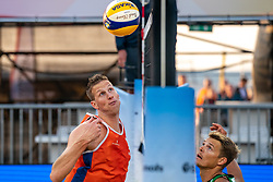 Christiaan Varenhorst (2) of The Netherlands in action during CEV Continental Cup Final Day 1 - Women on June 23, 2021 in The Hague