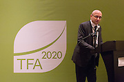 Marco Albani, Director of the Tropical Forest Alliance 2020 at the World Economic Forum, speaks at the General Assembly of the Tropical Forest Alliance 2020 in Jakarta, Indonesia, on March 11, 2016. <br /> (Photo: Rodrigo Ordonez)