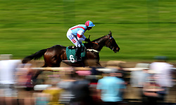 """Simply The Betts ridden by Daryl Jacob Irish Thoroughbred Marketing """"National Hunt"""" Maiden Hurdle during Kids Carnival Day of The Qatar Airways May Racing Carnival at Warwick Racecourse."""