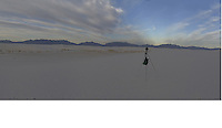 Image 4 of 4. Panorama of White Sands National Monument at Sunrise with Several Nikonian ANPAT 12 Photographers. Composite of 11 images taken with a Nikon 1 V1 camera and 10 mm f/2.8 lens (ISO 100, 10 mm, f/8, 1/60 sec). The Raw images were first processed with DxO Optics Pro 8, then combined using AutoPano Giga Pro. The final image was 19189 x 2185 pix, equivalent to a field of view of 337° x 37° (almost 360°).