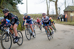 Cecilie Uttrup Ludwig at the 127 km Omloop van het Hageland on February 26th 2017, starting and finishing in Tielt Winge, Belgium. (Photo by Sean Robinson/Velofocus)