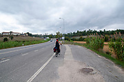 Cycling along the Mondego River from Coimbra to Figueira da Foz on the Atlantic Coast, Portugal