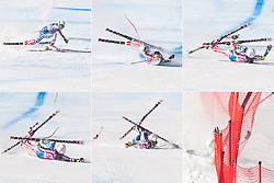 22.01.2011, Tofana, Cortina d Ampezzo, ITA, FIS World Cup Ski Alpin, Lady, Cortina, Abfahrt, im Bild Combo vom Sturz Laurenne Ross (USA, #34) // Laurenne Ross (USA) during FIS Ski Worldcup ladies Downhill at pista Tofana in Cortina d Ampezzo, Italy on 22/1/2011. EXPA Pictures © 2011, PhotoCredit: EXPA/ J. Groder